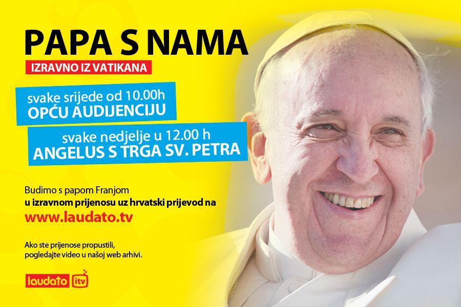 Od sada Papine kateheze pratite izravno na hrvatskom jeziku na www.laudato.hr
