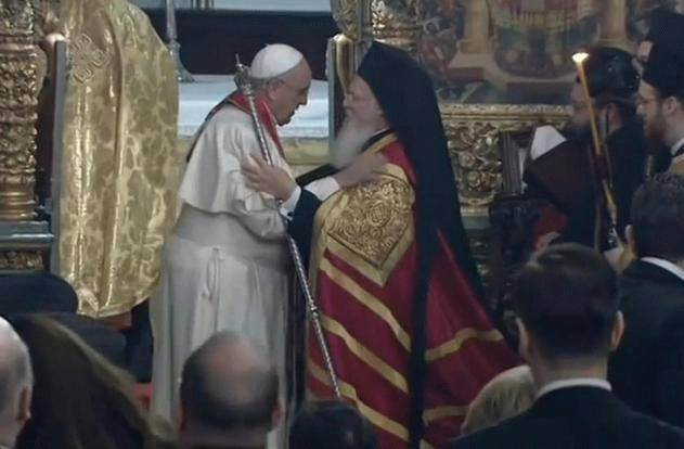 Franjo Bartolomeju I.: Mi smo braća u nadi uskrslog Gospodina!