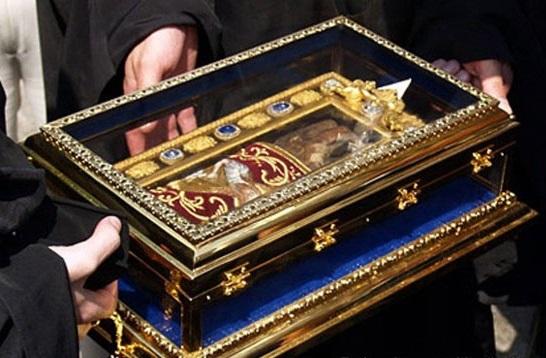Ruka sv. Ivana Krstitelja kojom je kršten sam Gospod Isus Krist