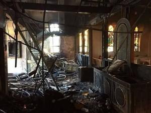 Crkva izgorjela ali ne i ikona