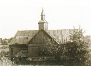 Nekadasnja grkokatolička ukrajinska drvena crkva u Lisnji u Bosni prije Drugog svjetskog rata
