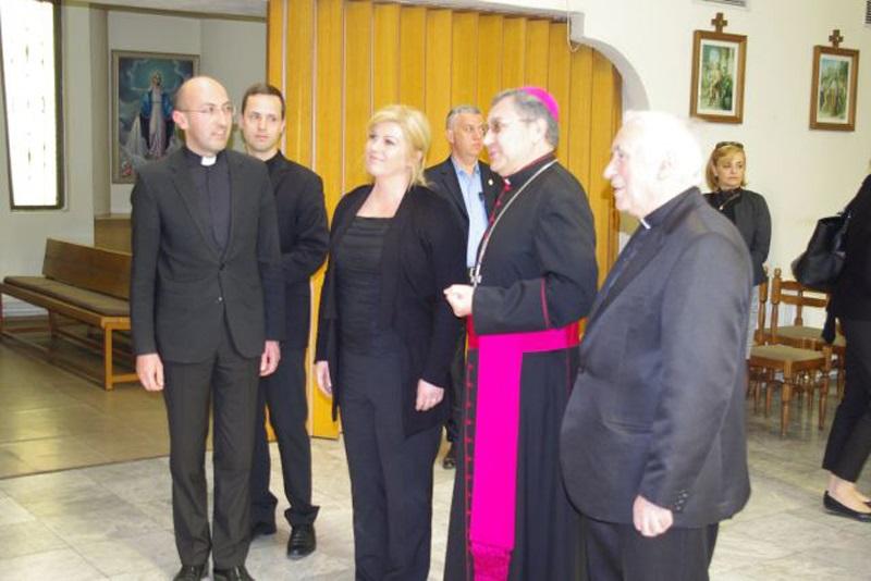Skopski biskup mons. Kiro Stojanov primio predsjednicu RH Grabar-Kitarović