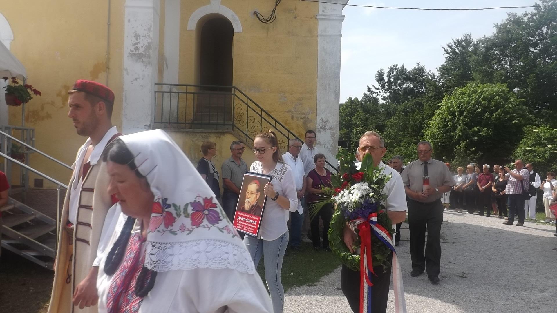 Povodom 70-te godišnjice smrti biskupa Janka Šimraka položen vijenac u ime Žumberačkog narodnog sabora