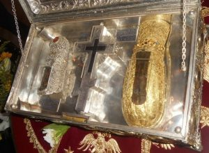 Dragocjeni relikvijar manastira Simenopetra sa Atosa u kojem se nalaze relikvije sv Marije Magdalene
