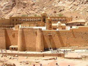 Manastir sv. Katarine na Sinaju unutar kojeg se nalazi Neizgorivi grm