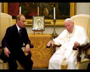 Papa Ivan Pavao II i predsjednik Putin ispred orginalane ikone Kazanske u Rimu