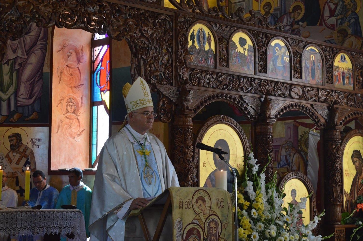 Biskup Uzinić na proslavi Uspenija kod makedonskih grkokatolika