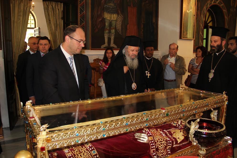 Potpredsjednik Vlade Ivo Stier u Ateni se poklonio moćima sv. Helene