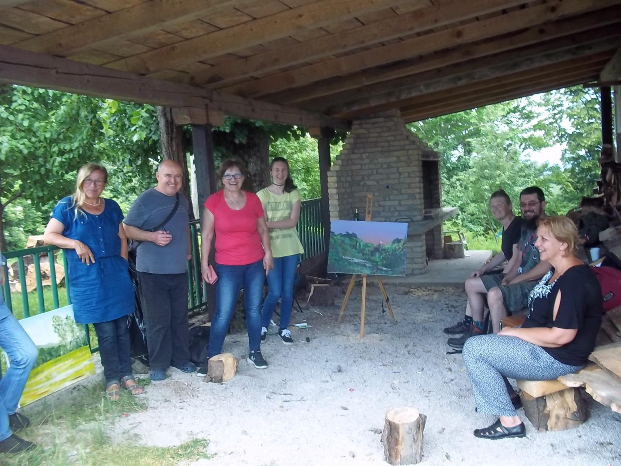 Župa u Grabru ugostila članove likovne sekcije Matice hrvatske