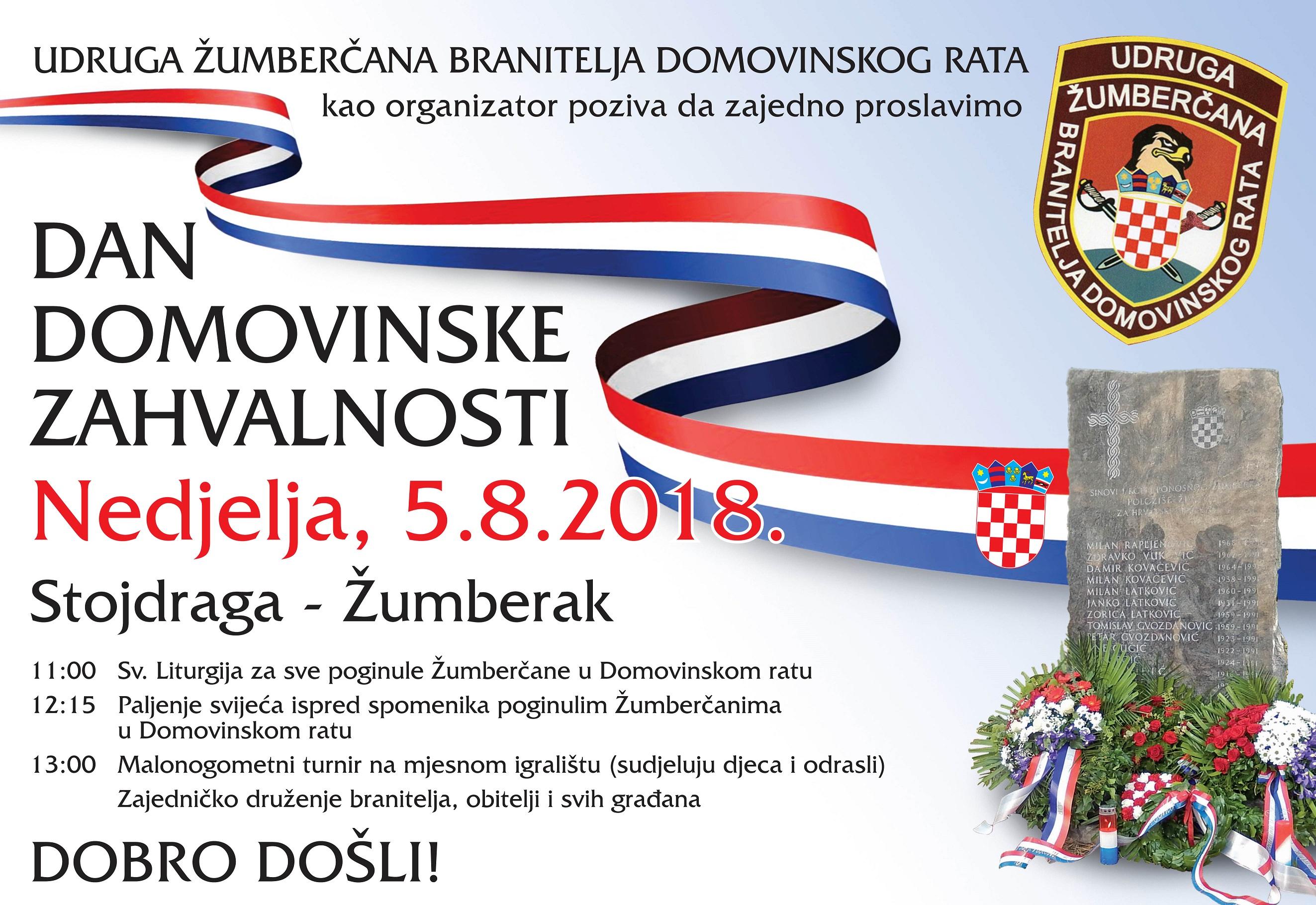 Najava proslave Dana domovinske zahvalnosti u Žumberku