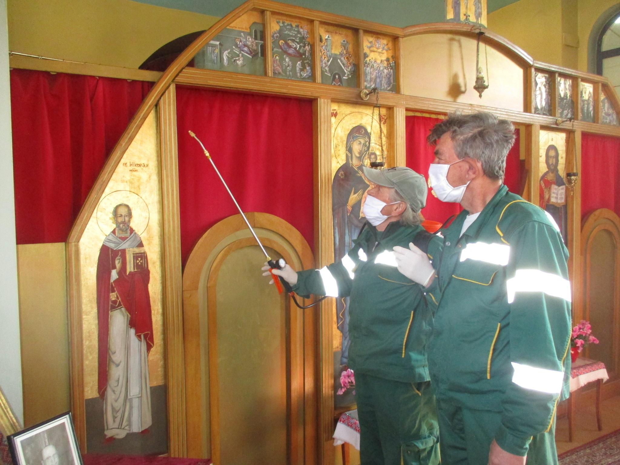 Započela dezinfekcija crkava u Žumberačkom vikarijatu