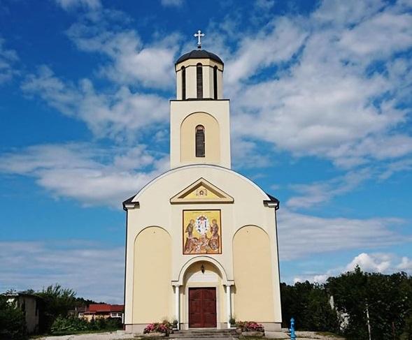 Oslikano pročelje grkokatoličke crkve u Jastrebarskom