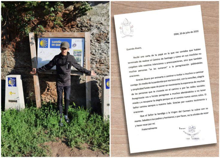 Papa Franjo poslao dirljivo pismo dječaku s intelektualnim teškoćama koji je prošao Camino