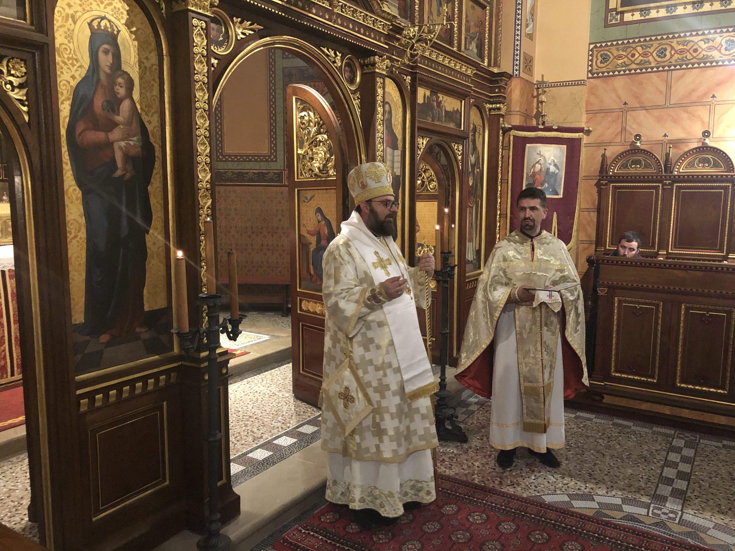 U zagrebačkoj grkokatoličkoj konkatedrali na Gornjem Gradu svake nedjelje u 18 sati arhijerejska liturgija