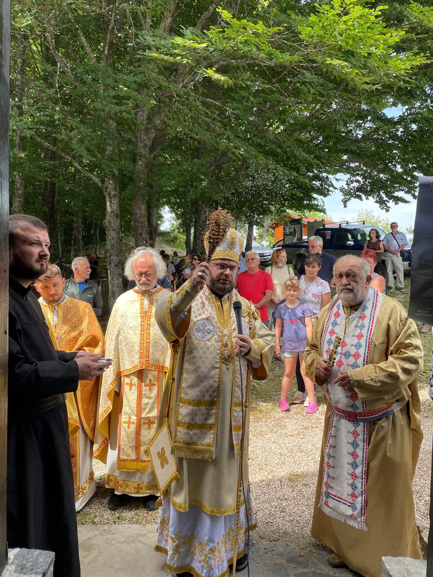 Blagoslov obnovljenog krovišta na svetištu sv. Ilije na Svetoj Geri